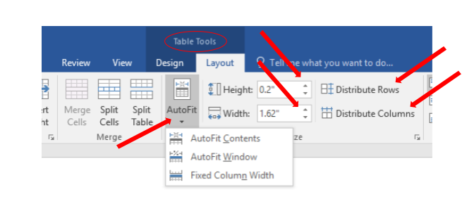 How to Adjust Table Columns in Word (AutoFit) | Cedarville University