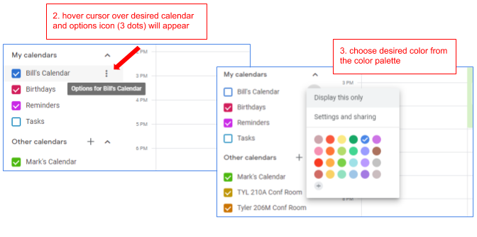 Change the Color of Your Google Calendar | Cedarville University