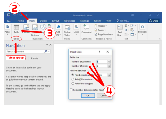 how to import excel data into a word table