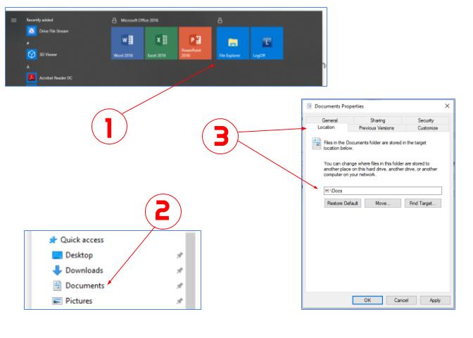 Windows: How to Set Default Document Folder Location | Cedarville University