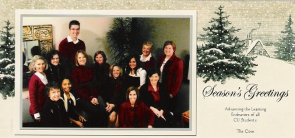 Seasons Greetings from The Cove Staff