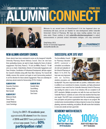 May 7, 2018 AlumniConnect Newsletter Thumbnail