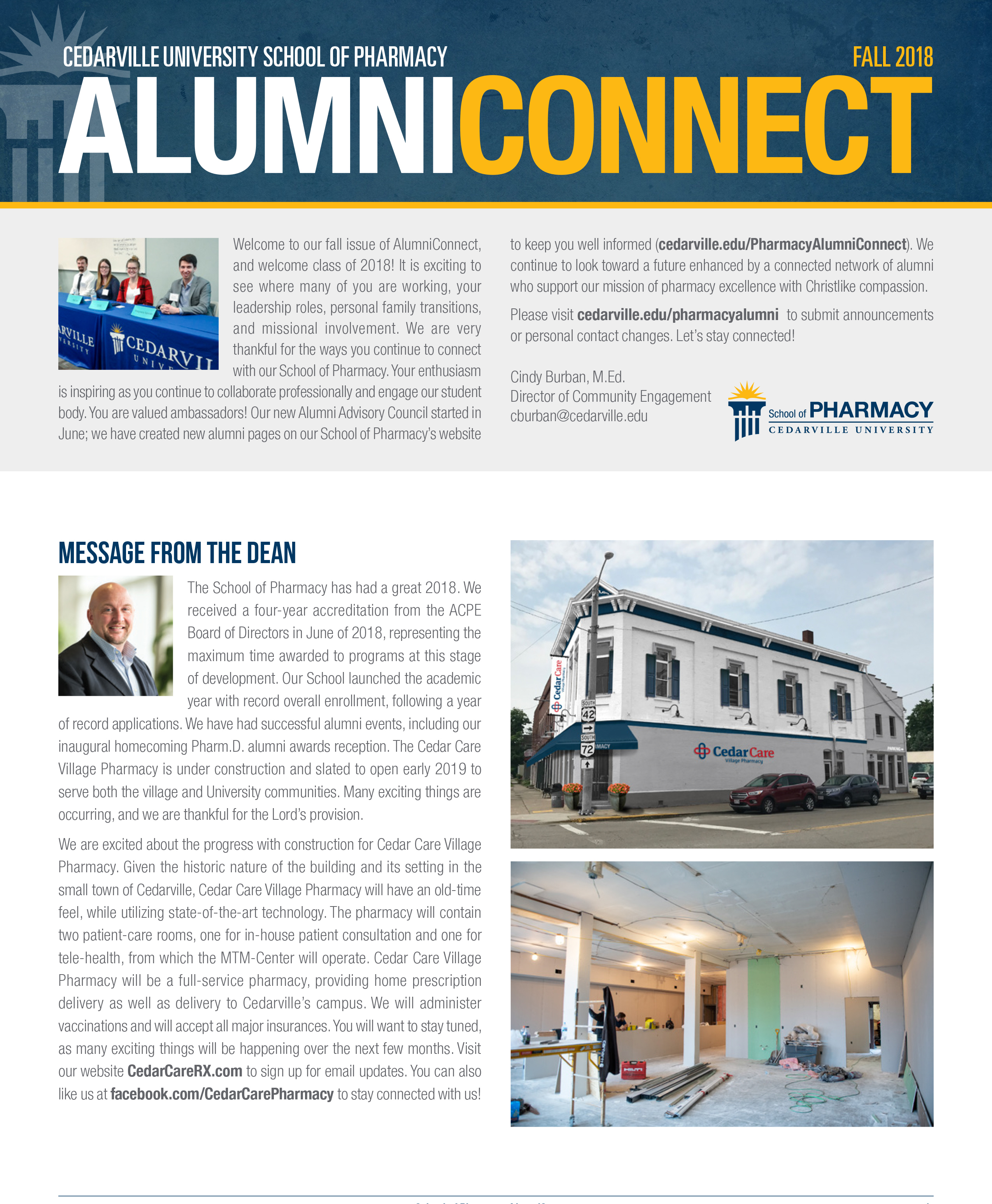 November 13, 2018 AlumniConnect Newsletter