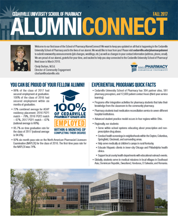 September 26, 2017 AlumniConnect Newsletter