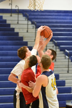 3 Man Basketball Photo