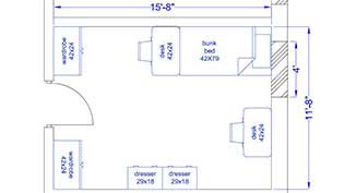 Willetts Hall - Room Layout
