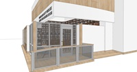 A rendering of the outside of the right-side of the new library and reading room
