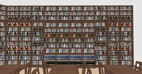 A rendering of the internal right wall of the new library and reading room