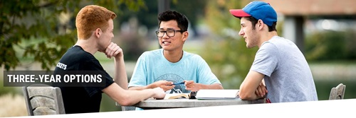 Students sitting outside - Three-Year Options