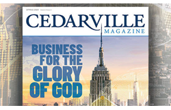 Cover of business issue of Cedarville Magazine