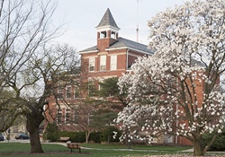View of Cedarville University campus in th spring