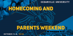 Homecoming and Parents Weekend 2018 graphic