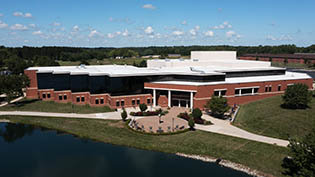 An aerial picture of the SSC taken from over CedarLake