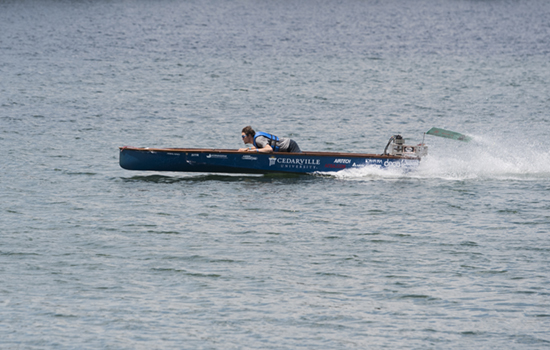 Solar boat team wins International Hydrofoil Society award