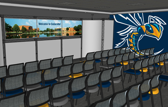 The Office of Admissions will open a new and innovative presentation room at the end of September.