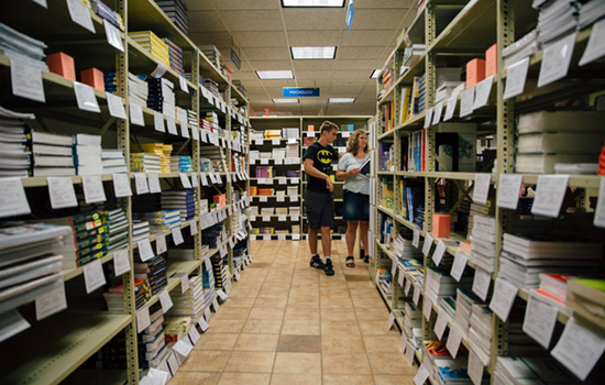 Bookstore saves students money.