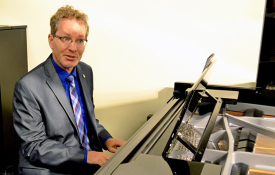 Dr. John Mortensen was honored with a reception for his work as a Steinway artist