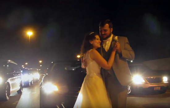 First dance on highway