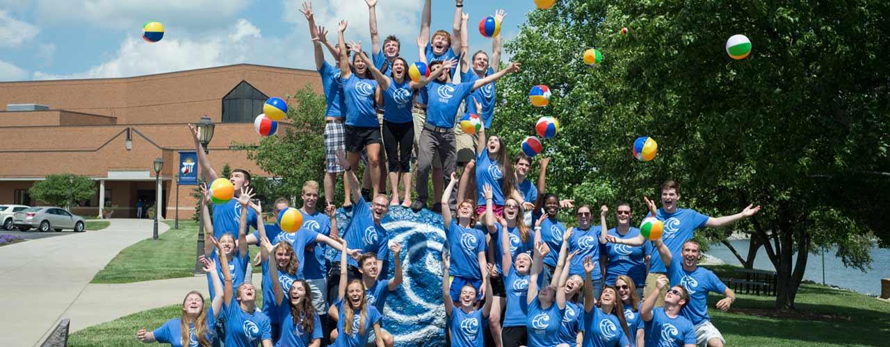 Students celebrating WAVE Camp