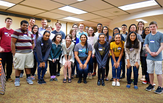 Speech team during outreach
