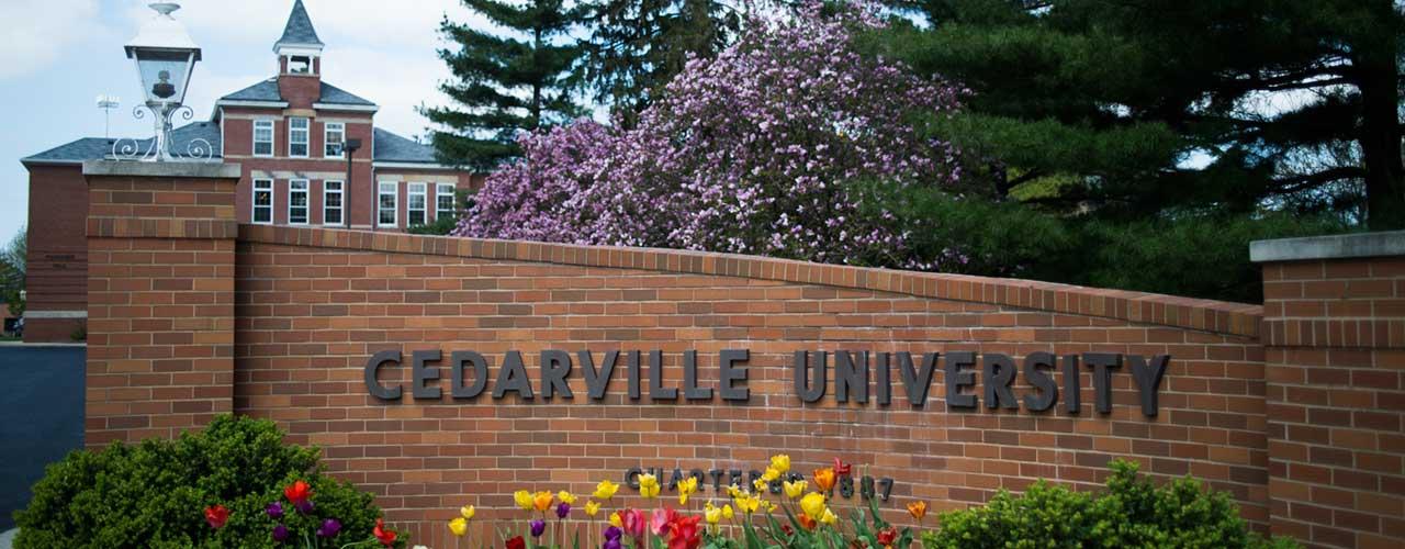 Cedarville sign