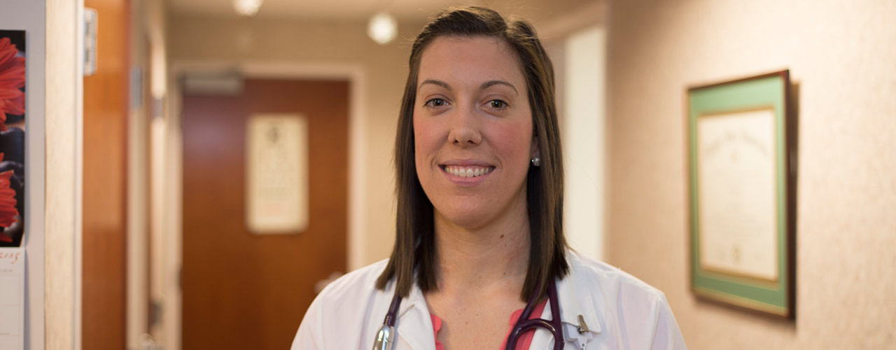 FNP student during clinical rotation