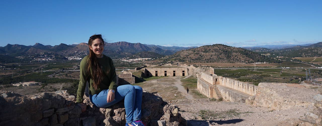 Rachel Leake sight-seeing during her time abroad.