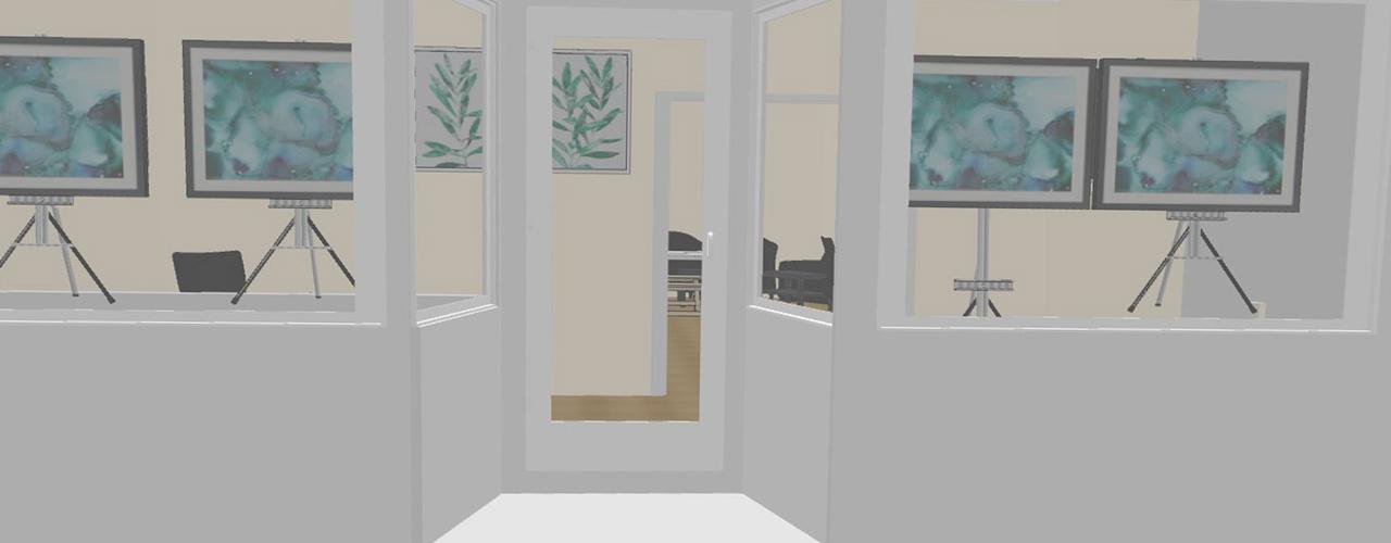 3D rendering of Studio25 space