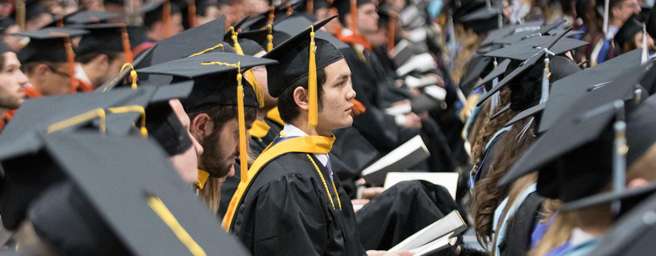 Graduates at Cedarville commencement