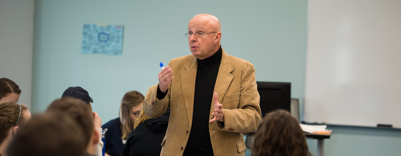 Heaton teaching at Cedarville University