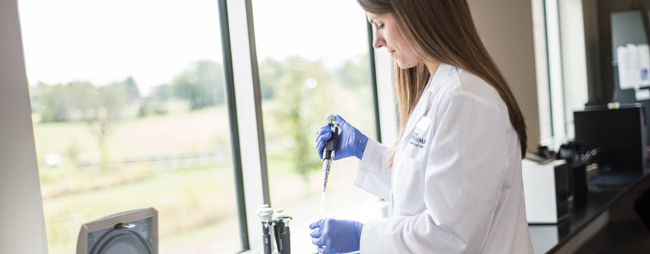 Cedarville Pharmacy student in lab