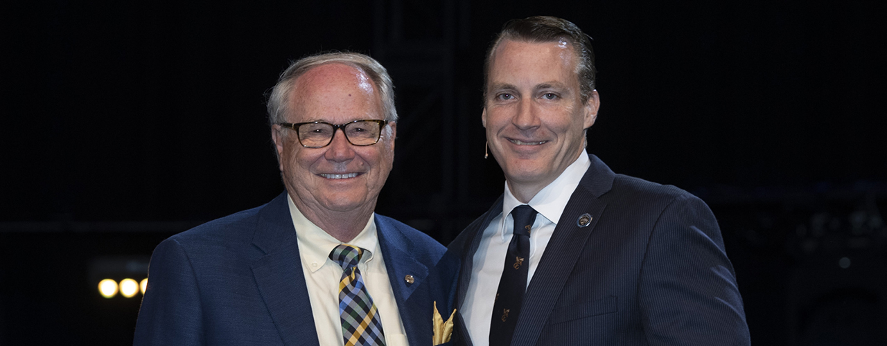 Dr. Paul Dixon, chancellor of Cedarville University, and Dr. Thomas White, president of Cedarville University