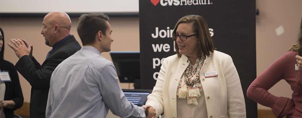 Cedarville University's Nursing and Pharmacy Career Fair.