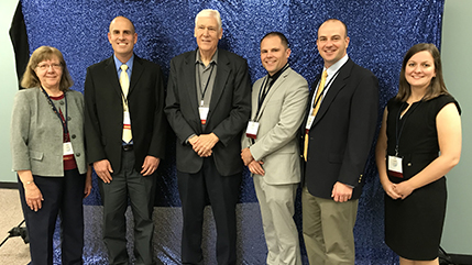 The Southwestern Ohio Council for Higher Education award winners from Cedarville University: Dr. Barb Loach, Dr. Adam Hammett, Dr. Robert Parr, Dr. Austin Jaquith, Dr. Seth Hamman, and Dr. Emily Laswell.