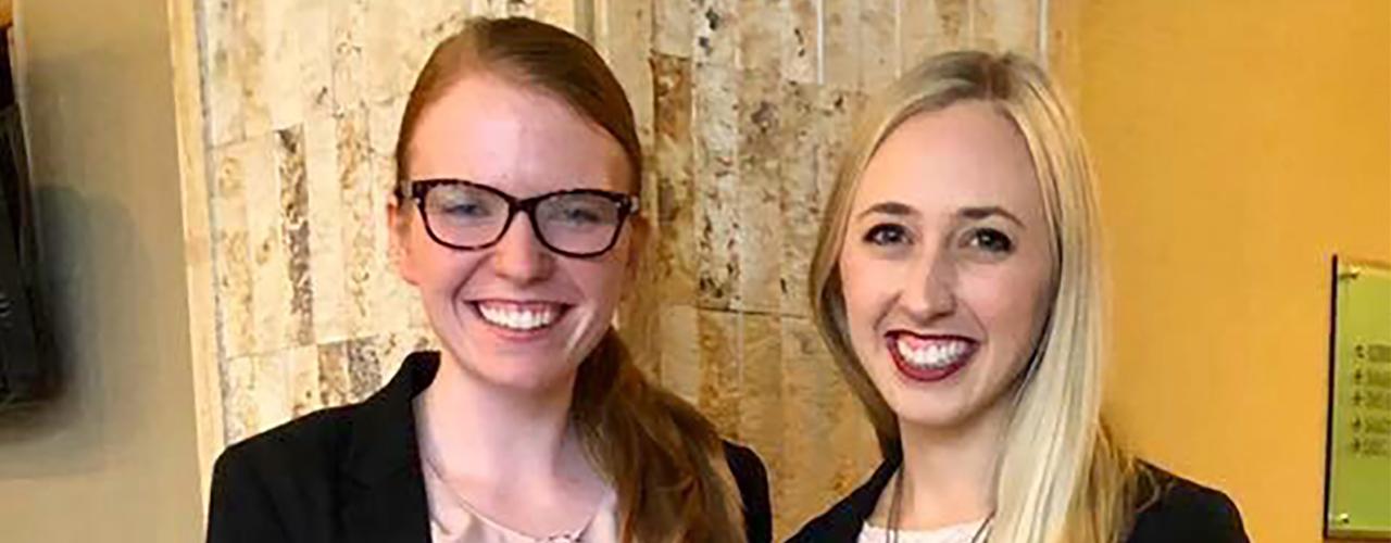 Cedarville University pharmacy students Sarah Berman and Micah Bernard.
