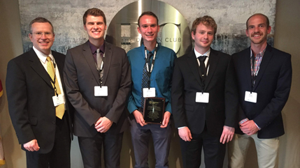 Computer engineering team that won Technology First award 2019