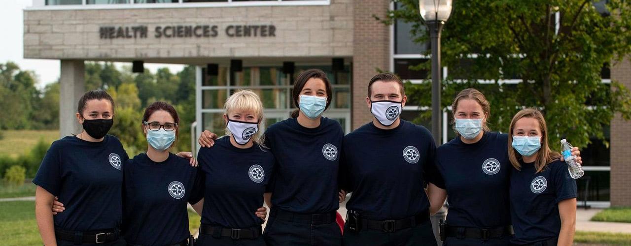 EMS 2020 wearing protective masks