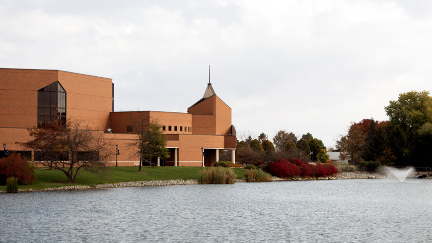 Dixon Ministry Center in the fall