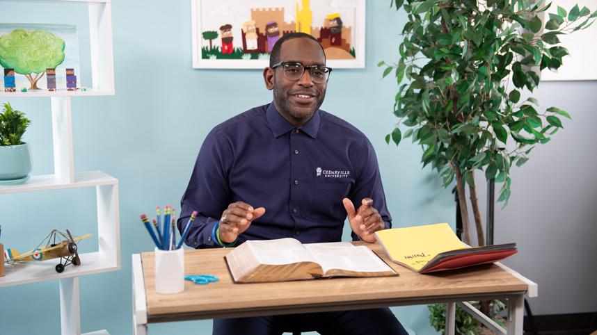 Dr. Kevin Jones filming Gospel Project videos for kids' curriculum