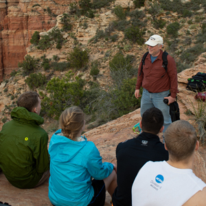 Dr. John Whitmore teaching in the Grand Canyon