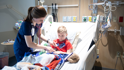 Nursing student at Dayton Children's Hospital