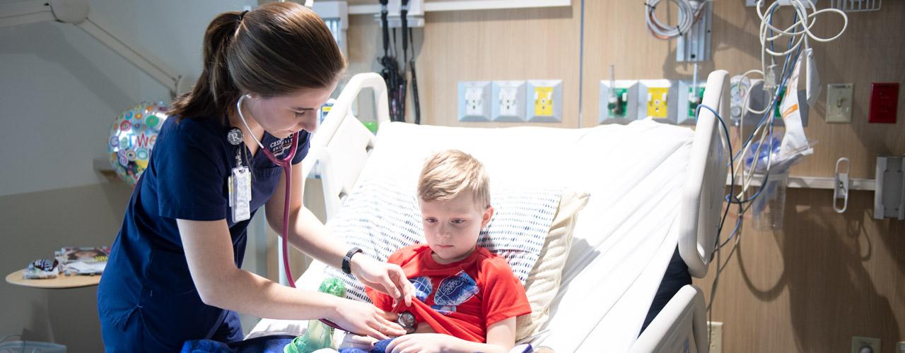 Nursing student at Dayton Children's Hospital
