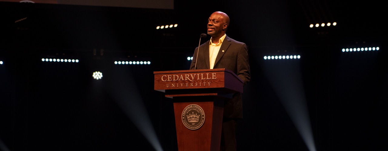 Professor Derrick Green, chair of the Kingdom Diversity Committee
