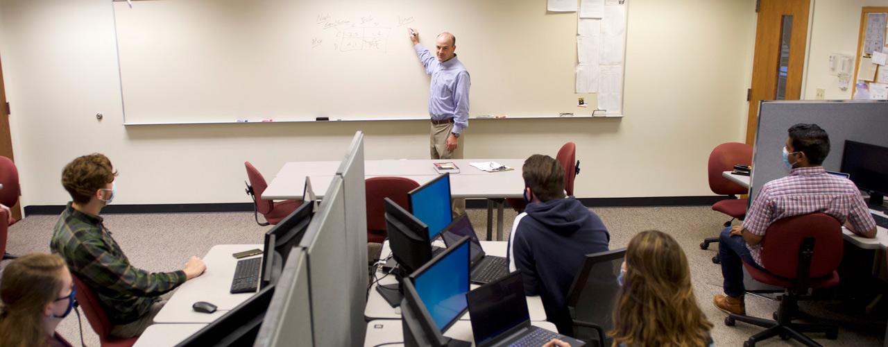 Dr. Seth Hamman teaching a cyber security class