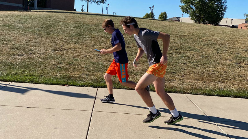 Cedarville freshman Jason Stafford running the Cedar Lake Marathon he created