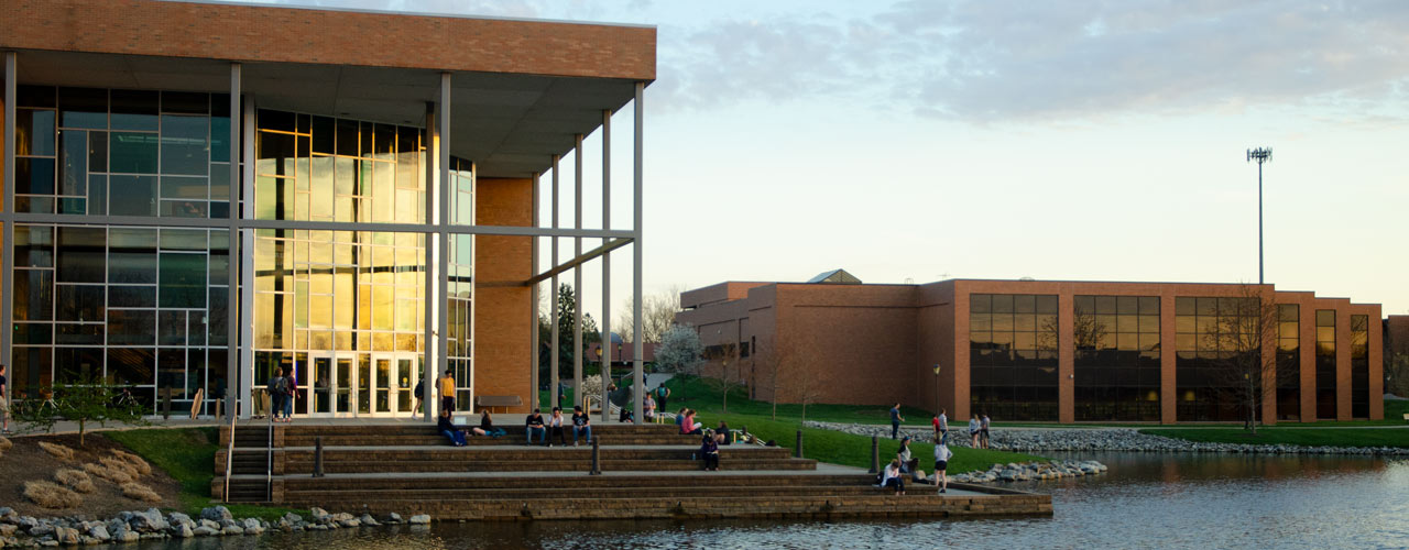 Sunset view of BTS and Centennial Library