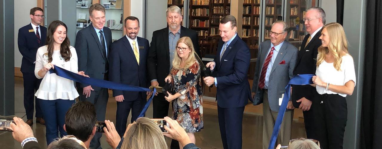 Wiersbe Library ribbon cutting