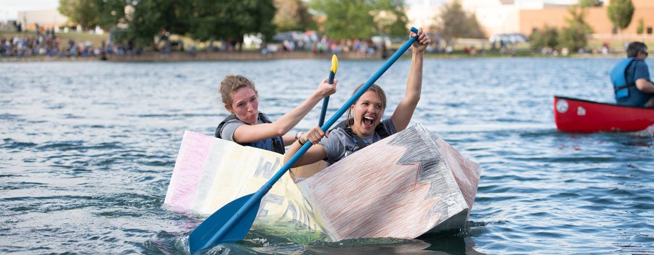Cardboard canoe race 2019