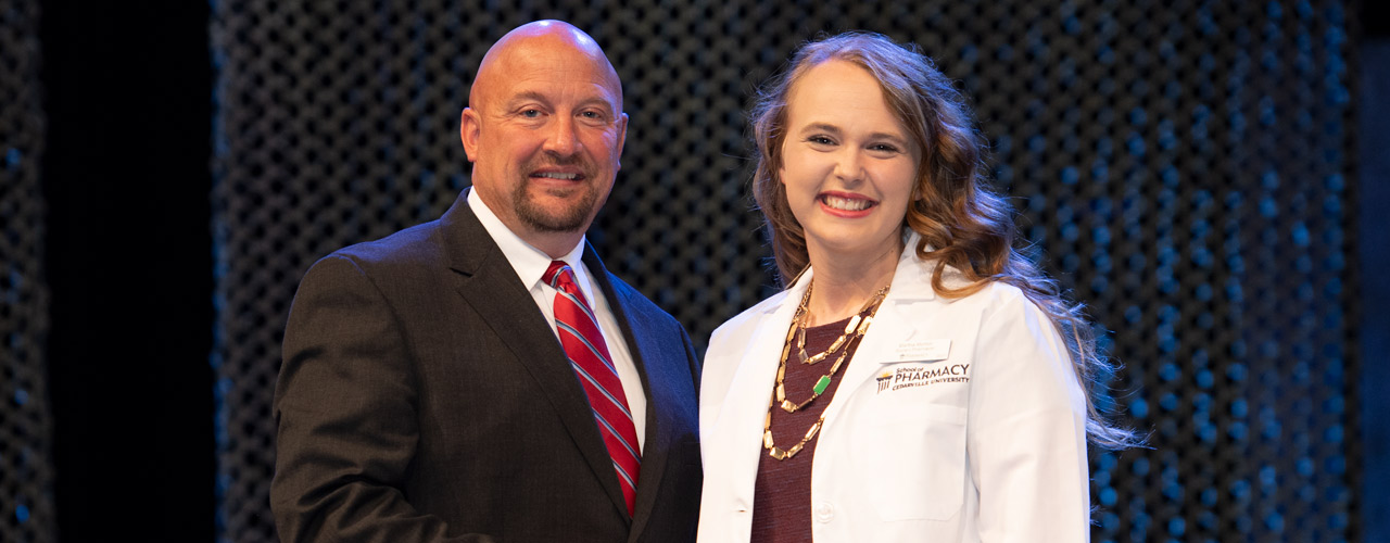 Dr. Marc Sweeney and P3 student Martha Morton