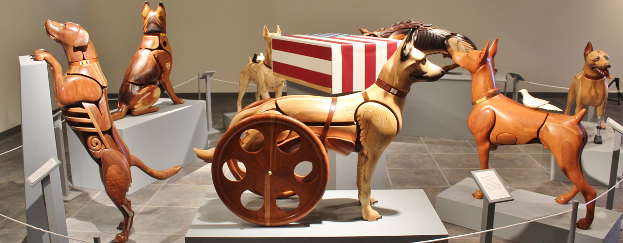 Canine Warriors sculptures